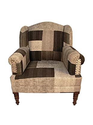 Melange Home Bengali One-of-a-Kind Chair, Mixed Neutrals