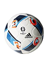 Adidas Euro 16 Topgli Football, Men's Size 3 (White)