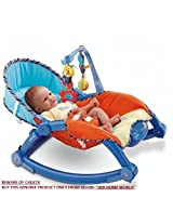Deluxe Newborn-to-Toddler Portable & Folding Rocker cum Chair with Soothing Vibration & Musical Toy (Excellent Quality)