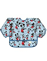 Bumkins Disney Baby Waterproof Sleeved Bib, Mickey Classic, 6-24 Months