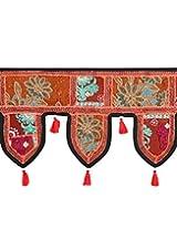 Gorgeous Cotton Toran Brown Patch Work Floral Door Hanging By Rajrang