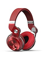 Bluedio T2+ Bluetooth Wireless Headset Hifi Headphone Sports Earphone with Fm Tf Slot (Red)