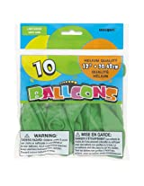 "12"" Latex Lime Green Balloons, 10ct"