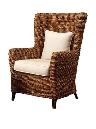 Jeffan Tamayo High Back Chair, Brown/White