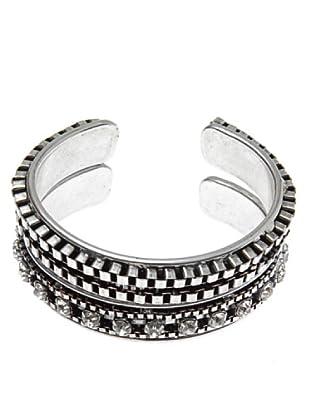 Lola Casademunt Pulseras Set 2 pulseras metalicas cristal grande