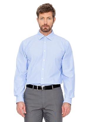 Cortefiel Hemd Fein Kariert (Blau/Weiß)