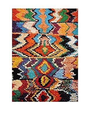 Chic Orange Teppich Marokko mehrfarbig 120 x 170 cm