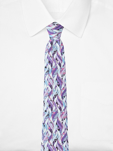 Emilio Pucci Men's Twirl Tie, Purple/Light Blue