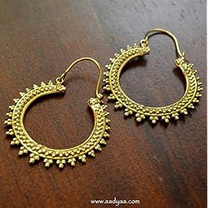 Desi Soul Brass Spiral Baali Earring