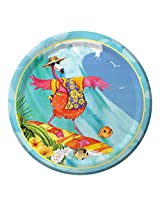 Creative Converting 8 Count Paper Dinner Plates, Flamingo Fun