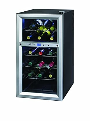 Kalorik Thermoelectric Dual-Zone 18-Bottle Ventilated Wine Cooler (Stainless Steel/Black)