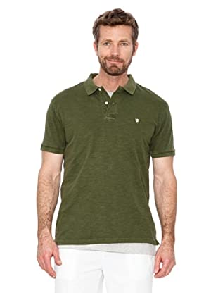 Cortefiel Polo Basic + T-Shirt (Grün)