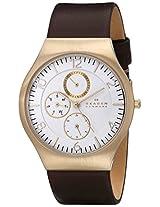 Skagen Grenen Chronograph Silver Dial Men's Watch-SKW6144