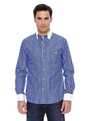 Pedro del Hierro Camisa Non Iron Sport Raya F.Azul Bicolor (Azul Marino)