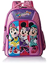 Minnie Polyester 16 Inch Purple and Pink Children's Backpack (MBE-WDP0509)