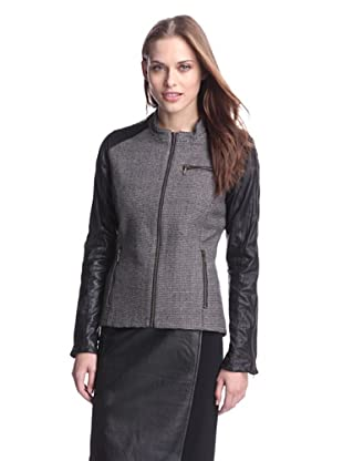 AS by DF Women's James Jacket with Leather Sleeves (Cinder Gray)
