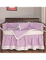 Hoohobbers Crib Bedding Set, Baby Orchid, 4 Piece