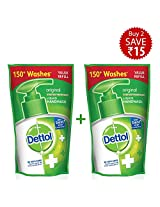 Dettol Original Liquid Soap Refill Pouch - 2x185 ml (Rupees 15 Off)