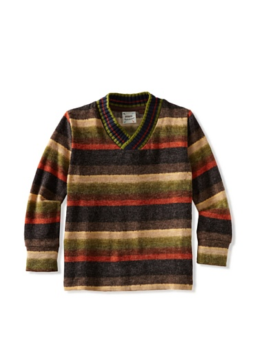 Fore!! Axel and Hudson Boy's Long Sleeve V-Neck Sweater (Autumn Stripe)