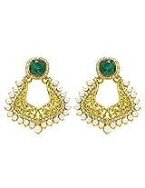 Peora Mughal Earrings for Women (Green)