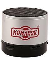 KONARRK Portable Bluetooth Mini Wireless Speaker With MIC FM Memory Card Slot USB Slot (Silver)