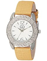 Gio Collection Analog White Dial Women's Watch - G0053-01