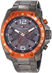 Tommy Hilfiger Men's 1790869 Sport Grey Ion-Plated Orange Bezel Multi-Function Bracelet Watch