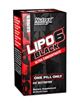 Nutrex Lipo 6 Black Ultra Concentrate Diet Supplement - 60 Capsules