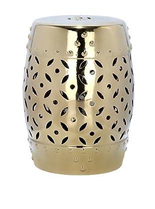 Safavieh Glazed Ceramic Garden Stool, Gold