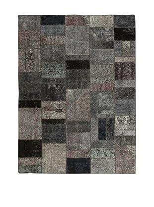 Design Community By Loomier Teppich Revive Vintage Patch grau 153 x 206 cm