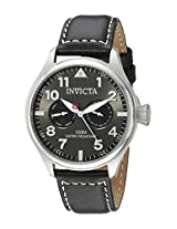Invicta Men's 18512 I-Force Stainless Steel Watch With Black Leather Band
