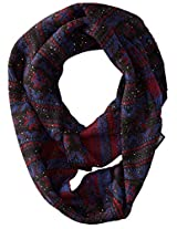 Muk Luks Women's Sprinkled Snowflake Eternity Scarf, Galaxy, One Size