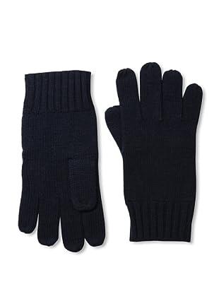 Cashmere Addiction Men's Solid Cashmere Gloves, Navy