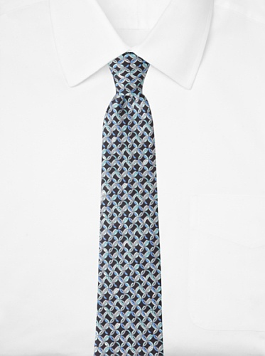Emilio Pucci Men's Linked Circle Tie, Blue/Black