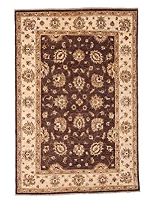 Darya Rugs Traditional Oriental Rug, Brown, 4' 5