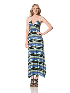 Ceci Women's Maxi Dress With Lace Back Detail (Ocean Blue Medley)
