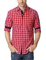 Peter England Plaid Cotton Slim Fit Shirt