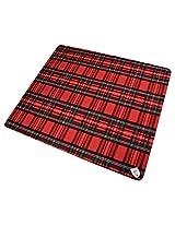 Creswick Australian Mills Billabong Waterproof Wool/Nylon 55 by 63-Inch Outdoor Picnic Blanket with Rubber Back, Royal Stewart