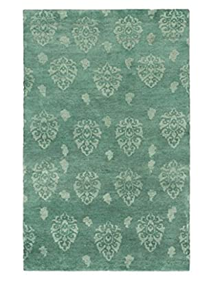 eCarpet Gallery One-of-a-Kind Hand-Knotted Royal Maroc Rug, Teal, 4' 10