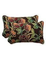 Pillow Perfect Rectangular Throw Pillow with Sunbrella Vagabond Paradise Fabric, Set of 2