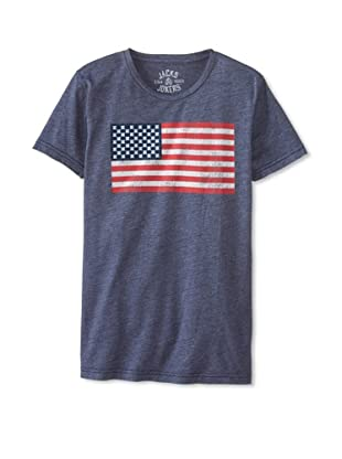 Jacks & Jokers Men's Flag King Tee (Navy)