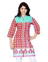 Lifestyle Retail Women Straight Kurta (LSM-057-7336_Red_X-Larg)