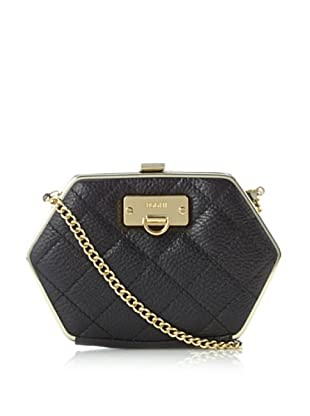 Bodhi Women's Grace Quilted Frame Clutch, Black