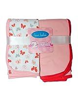 Newborn Baby Receiving Blanket - Newborn Swaddle Receiving Blankets 2 Pack (peach)