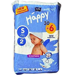 Bella Baby Happy Diapers Small - 36 Pieces