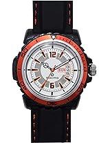 Maxima Hybrid Analog White Dial Men's Watch - 29775PPGW