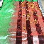 Multi Kamalkudi Phulkari Smooth Leather Saree With blouse piece