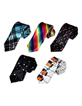 DANF0001 Series Colors Stain Excellent Mens Slim Neckties - 5 Styles Available By Dan Smith
