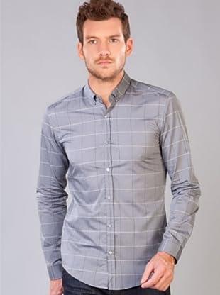 Hugo Boss Camisa Cuadros (Gris)