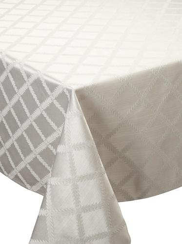 Lenox Laurel Leaf Tablecloth (Platinum)
